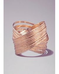 Bebe - Metallic Interlocking Bangle Set - Lyst