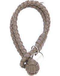 Bottega Veneta   Gray Braided Bracelet   Lyst