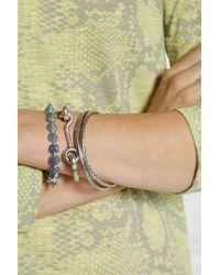 Eddie Borgo | Metallic Silver-Plated Cubic Zirconia Cone Bracelet | Lyst