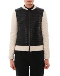 Jonathan Simkhai | Black Quilted Leather Bomber Jacket for Men | Lyst