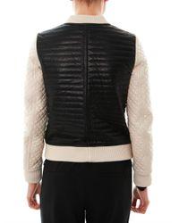 Jonathan Simkhai - Black Quilted Leather Bomber Jacket for Men - Lyst
