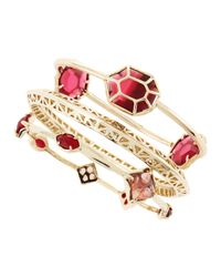 Kendra Scott - Beverly Bracelet Set Pinkred - Lyst