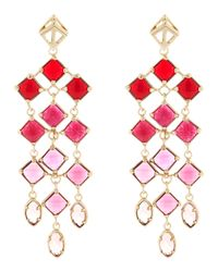 Kendra Scott - Pink Gloria Chandelier Earrings - Lyst