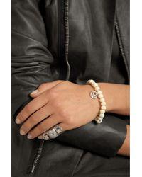 Loree Rodkin - Metallic 18karat White Gold Diamond and Bone Bracelet - Lyst