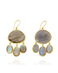 Pippa Small - Yellow Labradorite Urchin Earrings - Lyst
