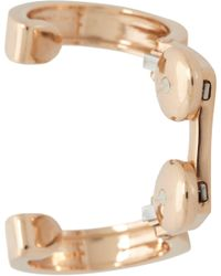 Repossi - Pink Rose Gold Two Ring Large Loops Berbère Ear Cuff - Lyst