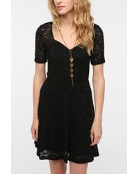 Urban Outfitters | Black Pins and Needles Sweetheart Lace Dress | Lyst
