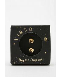 Urban Outfitters   Metallic Zodiac Gift Card Earring   Lyst