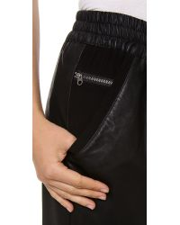 Addison - Black Averell Faux Leather Pants - Lyst