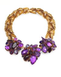 Aerin Erickson Beamon | Purple Swarovski Crystal Cluster Necklace | Lyst