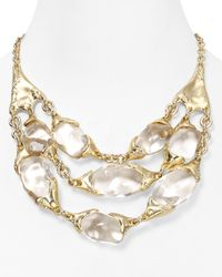 Alexis Bittar | Metallic Lucite Threestrand Pebble Necklace 16 | Lyst
