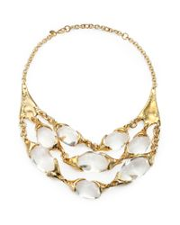 Alexis Bittar | Metallic Lucite Crystal Multirow Bib Necklace for Men | Lyst