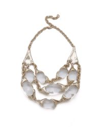 Alexis Bittar | Metallic Antibes Textured Pebble Crystal Necklace | Lyst