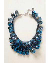 Anthropologie | Blue Gem Flutter Bib Necklace | Lyst