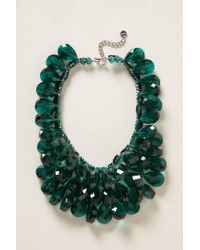 Anthropologie | Green Gem Flutter Bib Necklace | Lyst