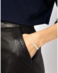 ASOS | Metallic Wear That There Sterling Silver Free As A Bird Fine Chain Bar Bracelet | Lyst