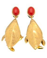 Aurelie Bidermann - Metallic Monteroso Pendant Earrings - Lyst