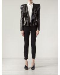 Balmain - Black Structured Blazer - Lyst