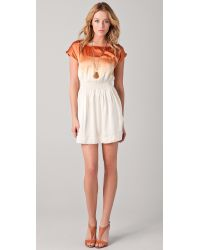Club Monaco - Orange Lainey Dress - Lyst