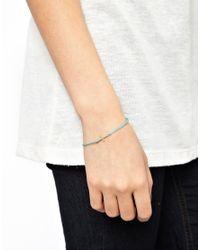 Dogeared - Blue Have Faith Sideways Cross Bracelet - Lyst