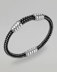 John Hardy - Black Bedeg Mens Nylon Cord Bracelet - Lyst