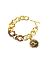 Just Cavalli | Gray Nature Golden Stainless Steel Women's Bracelet | Lyst