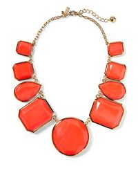 Kate Spade | Red Swirl Around Graduated Necklace | Lyst