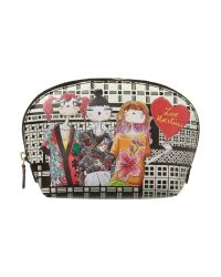 Love Moschino - Charming Large Black Cosmetic Bag - Lyst