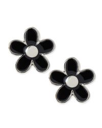 Marc By Marc Jacobs | Black Daisy Stud Earrings | Lyst