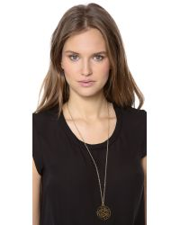 Marc By Marc Jacobs - Black Zebra Pendant Coin Necklace - Lyst