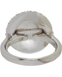 Roberto Marroni - White Pave Diamond Threeface Ring - Lyst