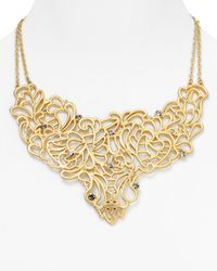 T Tahari | Metallic Midnight Lace Statement Necklace 16 | Lyst