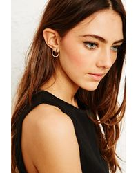 Urban Outfitters | Metallic Circle Back Bar Post Earrings | Lyst