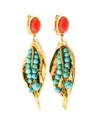 Aurelie Bidermann | Metallic Monteroso Gold-Plated Leaves Earrings | Lyst