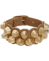 Balenciaga | Yellow Arena Two-Row Giant All Stud Bracelet | Lyst