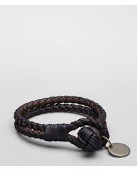 Bottega Veneta - Black Nero Ebano Intrecciato Nappa Bracelet - Lyst