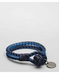 Bottega Veneta - Blue Tourmaline Électrique Intrecciato Nappa Bracelet - Lyst