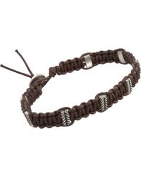 Zadeh | Brown Macramé Cord Bracelet for Men | Lyst