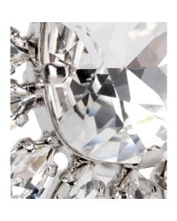 Dolce & Gabbana - Metallic Crystalembellished Clipon Earrings - Lyst