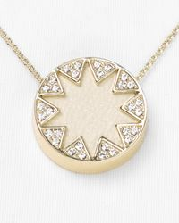 House of Harlow 1960 | Pink Mini Pave Sunburst Necklace 16 | Lyst