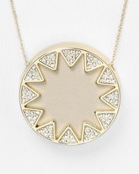 House of Harlow 1960 - Natural Pave Sunburst Pendant Necklace 26 - Lyst