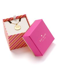 kate spade new york - Metallic All That Glitters Pendant Necklace 18 - Lyst