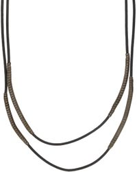 Lanvin - Black Spider Necklace for Men - Lyst