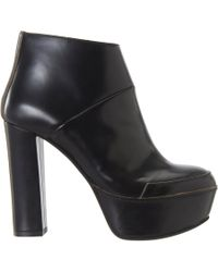 Marni - Black Raw Edge Platform Ankle Boot - Lyst
