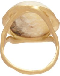 Monique Péan - Metallic Fossilized Walrus Ivory Diamond Ring - Lyst