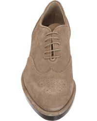 Roberto Del Carlo | Natural Suede Wingtip Oxford for Men | Lyst