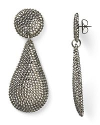Roni Blanshay - Metallic Pave Teardrop Earrings - Lyst