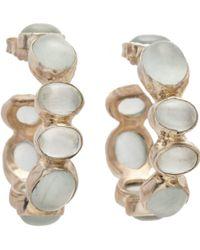 Sandra Dini - Metallic Aquamarine Hoop Earrings - Lyst