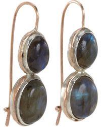 Sandra Dini - Metallic Labradorite Twodrop Earrings - Lyst