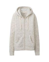 Uniqlo | Gray Sweat Long Sleeve Fullzip Hoodie | Lyst
